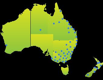 Compass Pools Australia Contact a Dealer Location Map