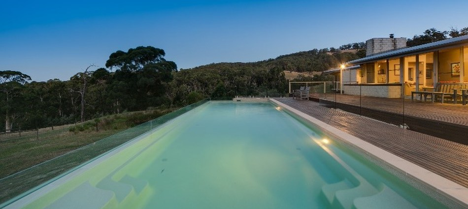 Compass Pools Australia 2017 SPASA Victoria Awards Lap Pool with Glass Wall Slim