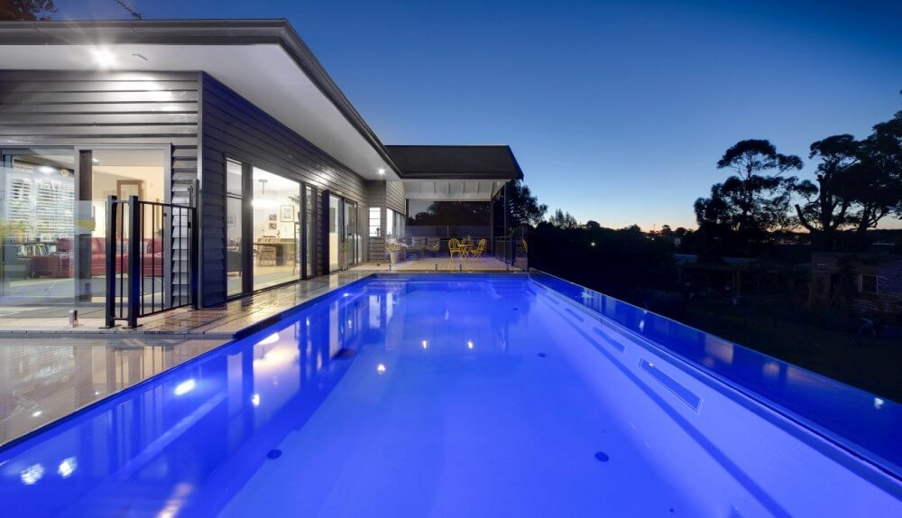Compass Pools Australia Above Ground Self Cleaning Swimming Pool and Spa with Pool Lights Leongatha