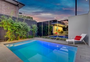 Compass Pools Australia - Fibreglass Swimming Pool Range - Plunge and Courtyard