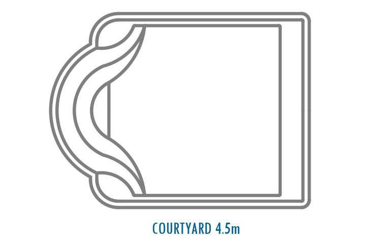 Compass Pools Australia Fibreglass Swimming Pools Shapes - Courtyard 4_5