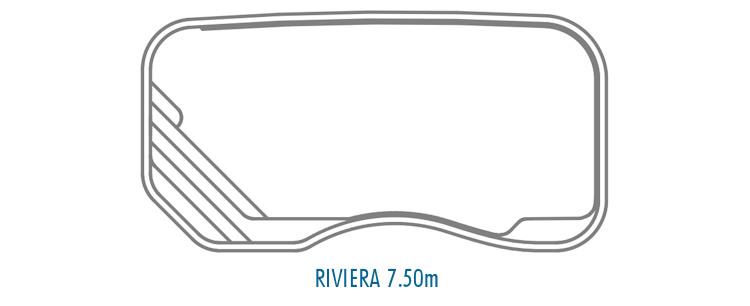 Compass Pools Australia Fibreglass Swimming Pools Shapes - Riviera 7_5