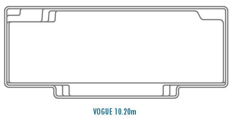 Compass Pools Australia Fibreglass Swimming Pools Shapes - Vogue 10.20m