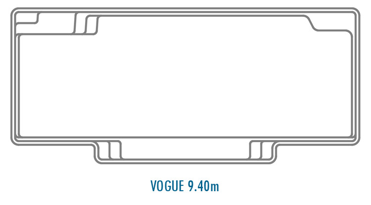Compass Pools Australia Fibreglass Swimming Pools Shapes - Vogue 9.40m