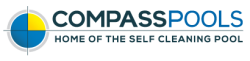 Compass Pools Australia Home of the Self Cleaning Pool Logo