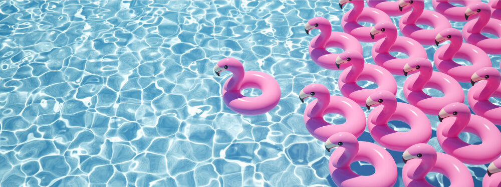 Compass Pools Australia Pink pool party Support for McGrath foundation