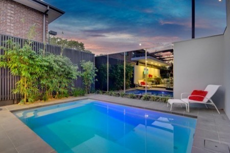 Compass Pools Australia - Plunge and Courtyard Fibreglass Swimming Pool