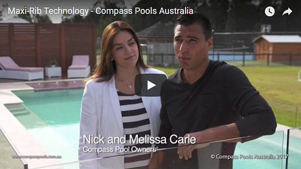 Compass Pools Australia Video Sloping Sites and Infinity Pools with Maxi Rib