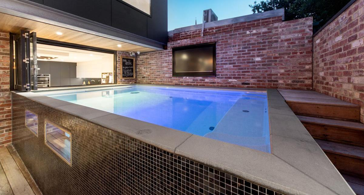 Compass Pools Australia Above Ground Pools are installed without excavation reducing the costs