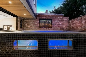 Above ground saltwater Plunge 5.2 fibreglass pool with windows Richmond VIC 04