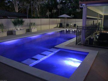 Compass Pools Australia Backyard pool design ideas X Trainer family pool and spa combo