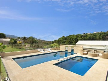 Compass Pools Australia Backyard pool design ideas X Trainer large and small pool combination