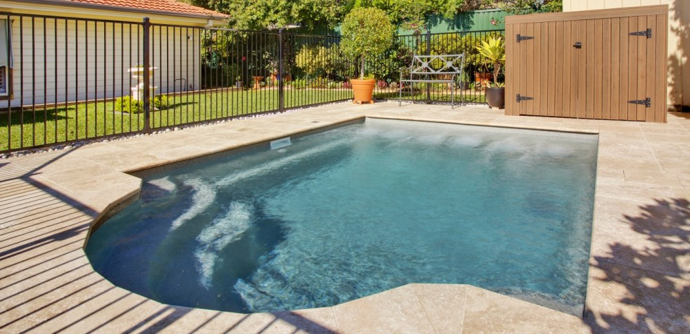 Compass Pools Australia Courtyard pool for smaller backyards