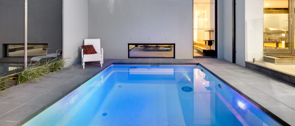 Environmentally friendly pools with led lights