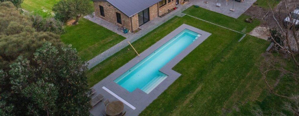 Fastlane lap pool drone shot