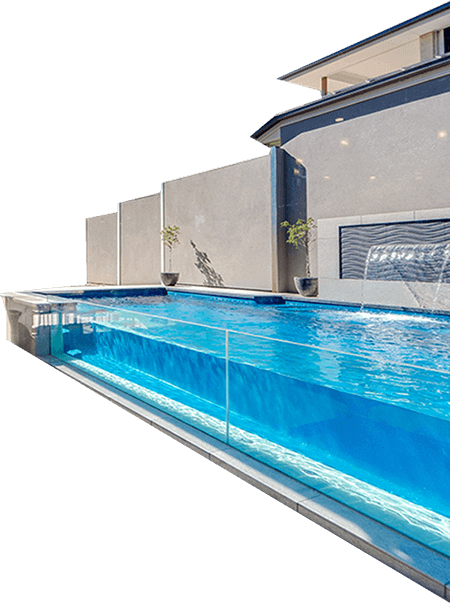 Compass Pools Australia Fibreglass pool installation with glass wall 450 1