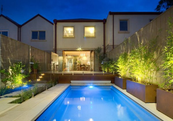 Nice small backyard with X-Trainer pool as its cetrepiece