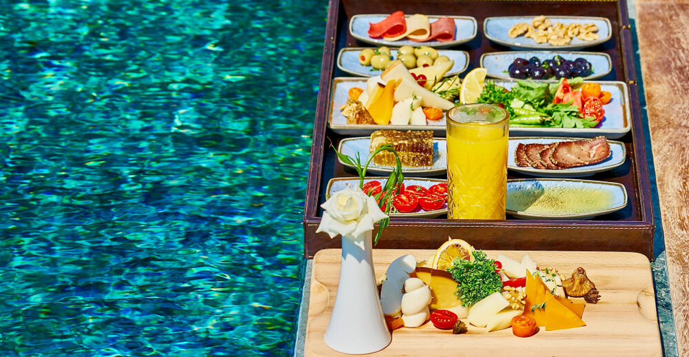 Nutritious and balanced diet helps swimmer's body
