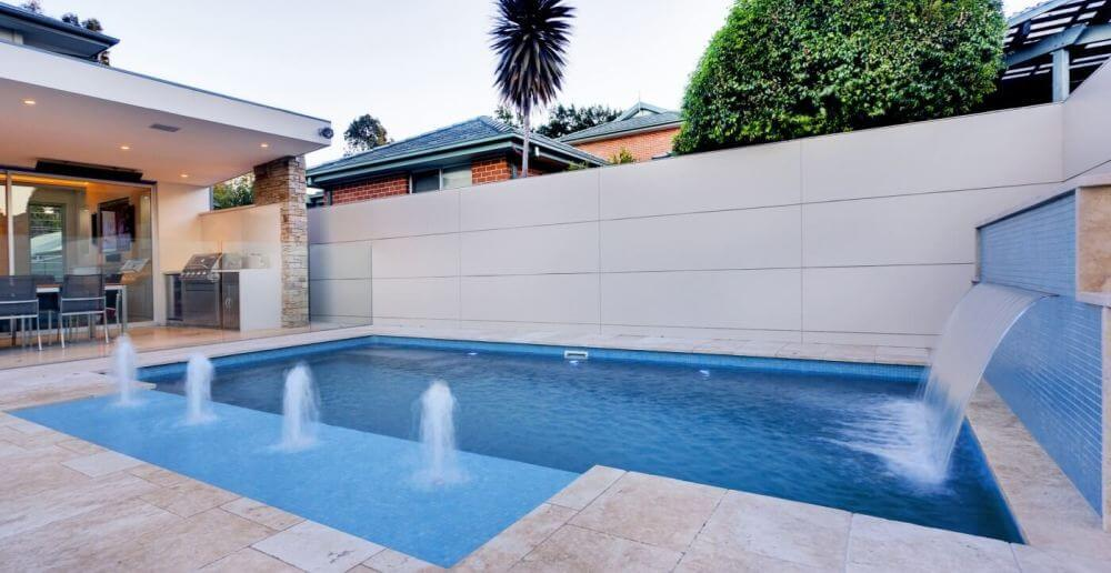Compass Pools Australia Perfect pool for the kids Pool with waterfeatures