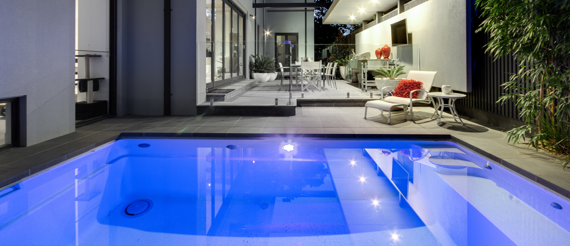 Plunge Pools Small Courtyard Swimming Pools Compass Pools