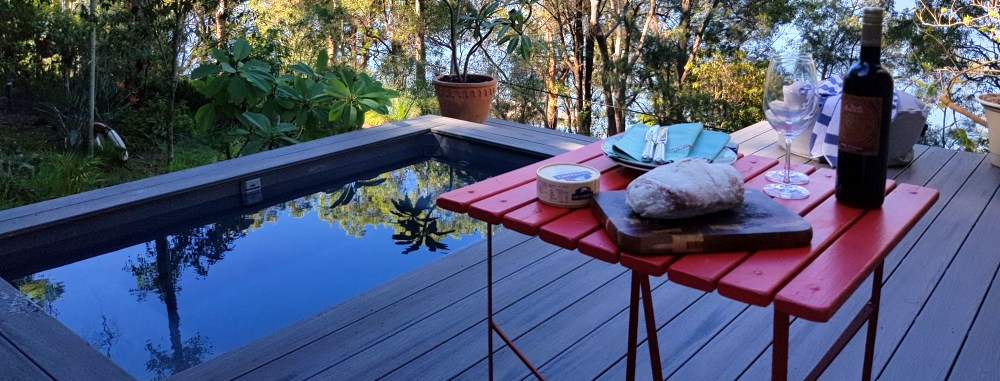Relax by an above ground spa
