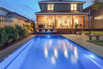Compass Pools Australia Self cleaning fibreglass pool 8.2m Vogue East Malvern
