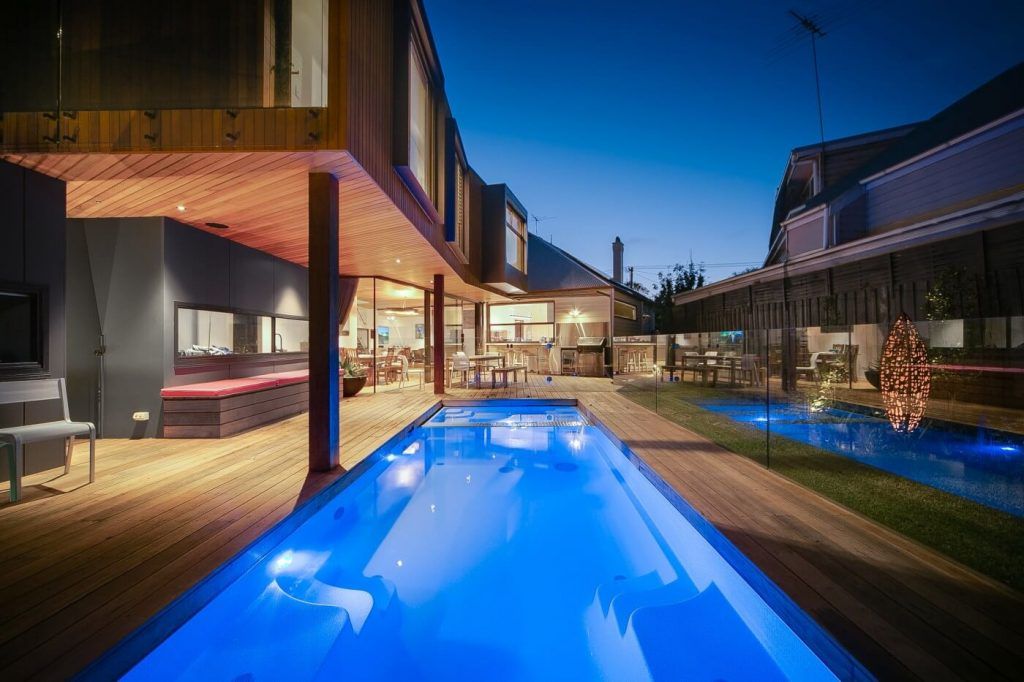 Compass Pools Australia Swimming Pools Melbourne X Trainer self cleaning pool and spa in Yarraville by Compass Pools Melbourne