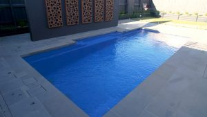 Vogue 8.2 Royal blue colour fibreglass pool installation in Melbourne VIC 03