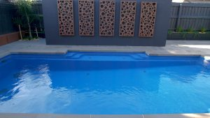 Vogue 8.2 Royal blue colour fibreglass pool installation in Melbourne VIC 05