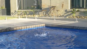 Vogue 8.2 Royal blue colour fibreglass pool installation in Melbourne VIC 09