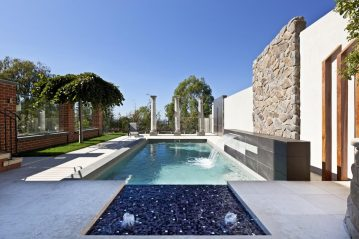 Compass Pools Australia Water features water wall and sunpod