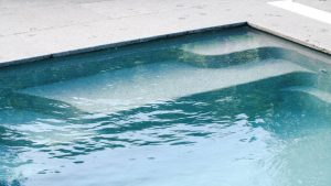 X Trainer 7 2 fibreglass pool installation in Geelong VIC - steps