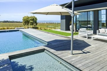 X-Trainer fibreglass pool and spa combo in Swan Bay Victoria