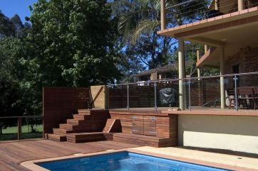 X-Trainer pool with timber decking
