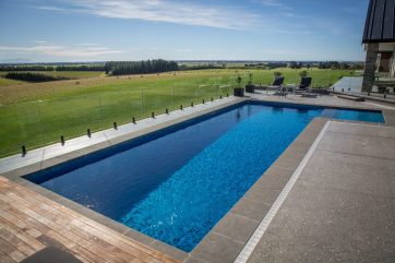 X-Trainer swimming pool with beautiful views