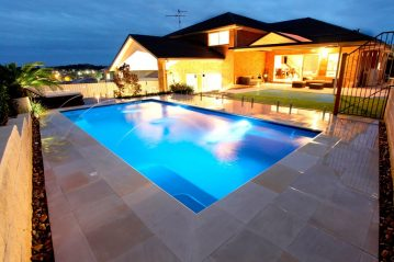 Compass Pools Australia X Trainer swimming pool with deck jets