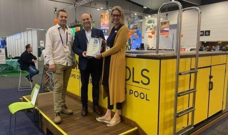 Victorian Pool and Spa Show Award for the Best Shell Scheme Stand
