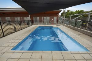 Compass Pools Melbourne X Trainer 8.2 self cleaning pool with custom ramp Kensington Victoria 1