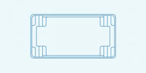Compass fibreglass pool shape Contemporary 8.3