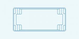 Compass fibreglass pool shape Contemporary 9.5