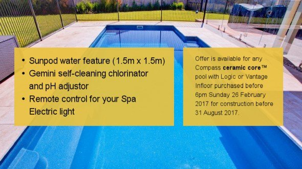 Fibreglass Pools Promotion - CPM Sales Expo Special Package News