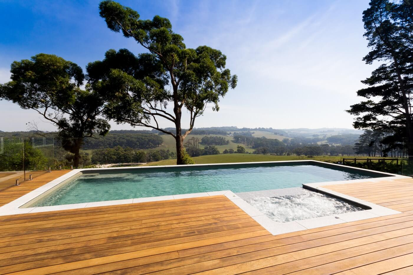 Self cleaning above ground pool and spa combo Viridian cololur Arthurs Creek VIC 8
