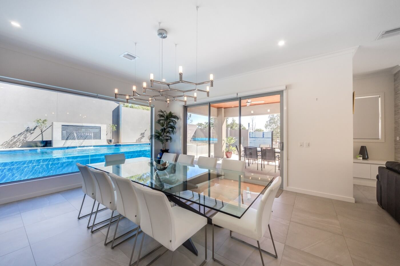 Vogue 8.2 SL self cleaning pool with glass window Pacific colour Bundoora VIC 6