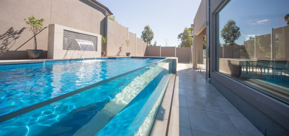 Vogue fibreglass pool great for kids